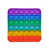GreenBee Push Pop Bubble Fidget Toy Herramientas para aliviar el estrés y la ansiedad para niños y Adultos (Arcoíris Cuadrado)