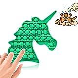 Uni-Fine Burbuja Sensorial Fidget, Silicona Sensorial Fidget Juguete Calidad Y Seguridad Suave Y Flexible Empujar Burbuja Sensorial Fidget Juguete Antiestres para Niños Adultos( Unicornio )