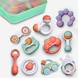 GizmoVine Sonajeros Bebe ,10 Piezas Juguetes Sensoriales para Bebé recién con Caja de Almacenamiento Adecuado para BebéS De 3, 6, 8,9 Meses Sin Desarrollo Temprano