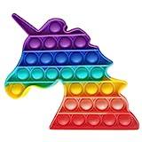 ClickAndBuy Unicorn Fidget toy, Juguete sensorial antiestrés, burbujas para explotar, push pop, popit, autismo, necesidades especiales, antiansiedad, juguetes antiestres, para niños y adultos