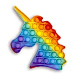 Droquimur Juguete Antiestrés | Pop It Sensorial | Explotar Burbujas | Unicornio | Arcoiris Multicolor