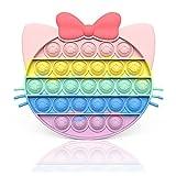 Young & Ming Silicona Sensorial Fidget Juguete Push and Bubble Sensory Toy Autismo Necesidades Especiales Aliviador del Antiestrés del Juguetes para Niños Adultos(Gato-2)