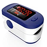 Oxímetro de Pulso, AGPTEK Pulsioxímetro de Dedo Digital con Pantalla LED para Medición de SpO2, Lectura Instantánea, Azul