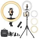 ELEGIANT 18' Aro de Luz Trípode LED, Anillo de Luz 55W Regulable 2800-6000K con Soporte 2m para Tableta/Móvil con Control Remoto Bluetooth y Bolsa de Viaje para Tiktok Maquillaje Selfie Volg Youtube