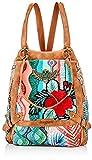 Desigual Backpack Big, Fabric - Mochila (tamaño grande) para Mujer, rojo, Medium