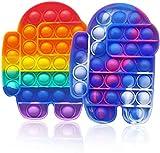mygzq Pop Up Bubble Fidget Toy, 2 PCS Push IT Pop BURBUCE Fidget Juguete sensorial Push Pulso Pop Up Fidget Juguete Juguetes Educativos para Niños Adultos Silicona Estrés Relevante Juguete