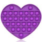 Bdwing Silicona Sensorial Fidget Juguete, Push and Pop Bubble Sensory Toy, Autismo Necesidades Especiales Aliviador del Antiestrés del Juguetes para Niños Adultos Relajarse (Purple-H)