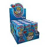 Triple Power Push Pop Lollipop – 12 paquetes de 3 sabores en 1 Lollipop – Cola – Fresa – Frambuesa | Lollipops envueltos individualmente | American Sweets