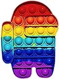 WLOT AmongUs Juguete sensorial para Jugar con los Dedos, antiestrés, Burbujas para explotar, Push Pop, popit, Autismo, Necesidades Especiales, antiansiedad, Juguetes antiestres, para niños y Adultos