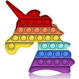 Bdwing Silicona Sensorial Fidget Juguete, Push Bubble Sensory Toy Empujar Pop Burbuja Sensorial Fidget Autismo Necesidades Especiales Aliviador estrés Juguetes Educativos para Niños Adultos
