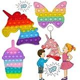 Kit Fidget Toy sensorial multicolor, juguete antiestrés, ideal para regalo, varias formas: unicornio, corazón, hielo, octogono, este pop iy completa la malla, sensory push bdwing push pop bubble