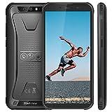 Blackview BV5500 (2020) Móvil Libre Resistente IP68 Impermeable Smartphone de 5.5' (13.9cm) Dual SIM, 2GB + 16GB, Android 8.1, Doble Cámara de 8MP+0.3MP y 5MP, 4400mAh Batería GPS - Negro