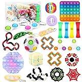LICHENGTAI Sensory Fidget Toys Set, 24 Pcs Fidget Toy Packs, Push Pop Bubble Fidget, Juguetes Fidget Sensoriales Baratos, Kit Fidget Toys, Juguete Antiestrés para Adultos y Niños