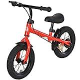 HOMCOM Bicicleta sin Pedales Altura Ajustable con Llantas de Goma Inflables para Niños Mayores de 3 Años Asiento Acolchado Bicicleta de Equilibrio 86x43x60 cm Rojo