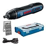 Bosch Go - Atornillador a Batería, Incluye Juego de 25 Puntas, Cable de Carga USB, L-BOXX Mini - Amazon Exclusive