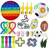 EMZOH Fidget Toy Set, 26 Pcs Sensorial Fidget Juguete Fidget Set De Juguetes Sensoriales Push Pop Bubble Sensory Fidget Toys, Alivio Del Estrés y Juguetes Sensoriales Antiansiedad Para Niños y Adultos
