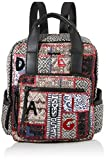 Desigual Backpack Patch 1968 Randers, Mochila moderna. para Mujer, Grau (Gris Osona), 34.5x12x28.5 centimeters (B x H x T)