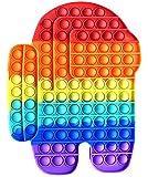 Fidget Toy Juguete Antiestres Pop It Among us Gigante Sensorial para Niños y Adultos Bubble Push Juguetes Antiestrés de Explotar Burbujas para Aliviar estrés y Ansiedad Grande