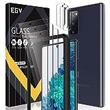 EGV Compatibile con Samsung Galaxy S20 FE 5G Protector de Pantalla,3 Pack Cristal Templado e 3 Pack Protector de Lente de Cámara
