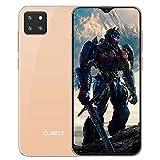 CUBOT X20 Teléfono Movil Libre 4G, Smartphone con 6,3 Pugadas Pantalla FHD+, AI Triple Cámara Trasera, Dual Sim, Android 9.0, Face ID, Huellas Dectilares 4GB RAM+64GB ROM, 4000mAh, Oro