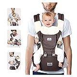 SIMBR Mochila Portabebés Multifuncional 12 en 1, Portabebés Ergonómico para bebés de 3-36 Meses, Cinturón Ajustable y 3D tejido de red, Carga Máx 20 kg, 100% Algotón