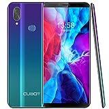 """CUBOT X19 Teléfono Móvil Libres, Pantalla 5,93""""FHD+ Smatphones,4GB RAM + 64GB ROM Extensión SD de 128GB,4G, Face ID, Octa-Core Procesador, 16MP Cámara Dual,Dual Sim,Android 9.0, 4000mAh, Aurora"""