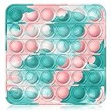 Bdwing Push and Pop Bubble Fidget Toy, Juguete Antiestres Educativo para aliviar el estrés, Necesidades Especiales silenciosas Aula para niño()